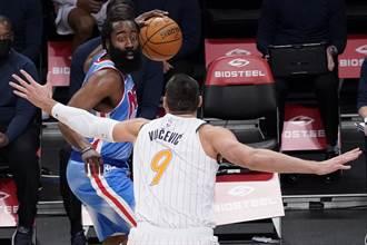 NBA》籃網主帥:哈登填滿數據欄 差點大四喜