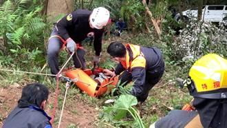 台東知本林道車輛翻覆山谷 車內4人受傷送醫