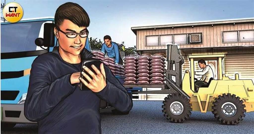 王亦傑以王煥傑假名身分應徵美濃農會雜工,以五鬼搬運方式盜走紅豆,獲利330萬,2020年正月初一遭警方逮捕。(圖/本刊繪圖組)