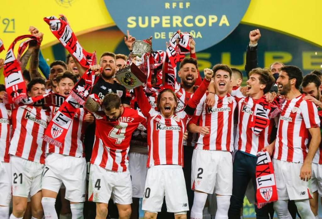 畢爾包競技在決賽3比2擊敗巴塞隆納,摘下西班牙超級盃冠軍。(路透)
