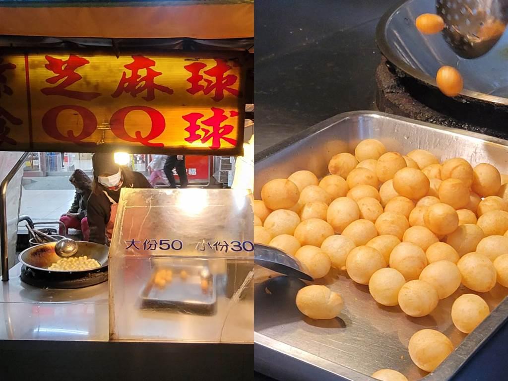 北投市場新市街上30年手工QQ球攤,老闆感謝顧客長年不離不棄。(照片/游定剛 拍攝)