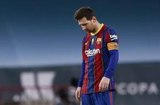 足球》梅西罕見失控 753場巴薩比賽首吞紅牌