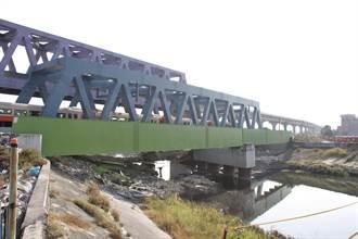 台鐵牛埔溪橋改建工程 典寶溪排洪更順暢