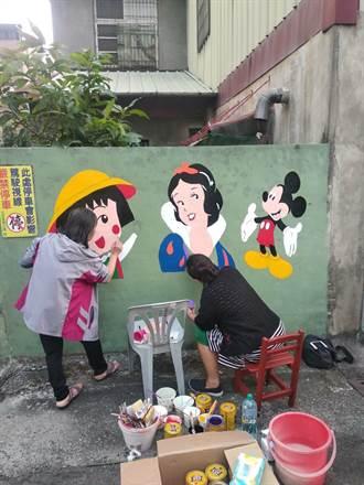 史話:家鄉味.人情味》彩繪牆點綴 老眷村有新亮點