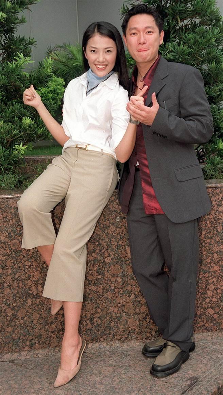 贾欣惠和谢祖武曾合作《麻辣鲜师》。(图/中时资料照)