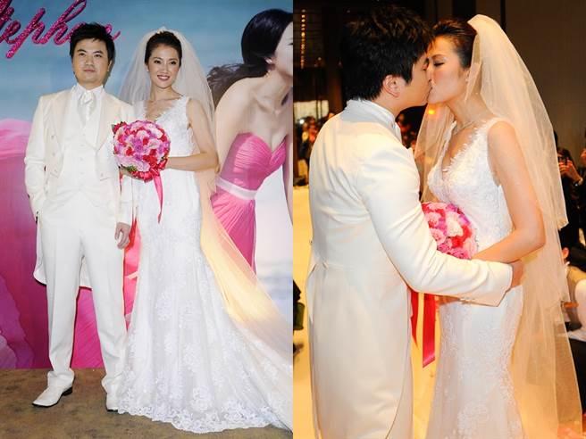 贾欣惠和香港金融才子Stephen 2012年结婚。(图/中时资料照)