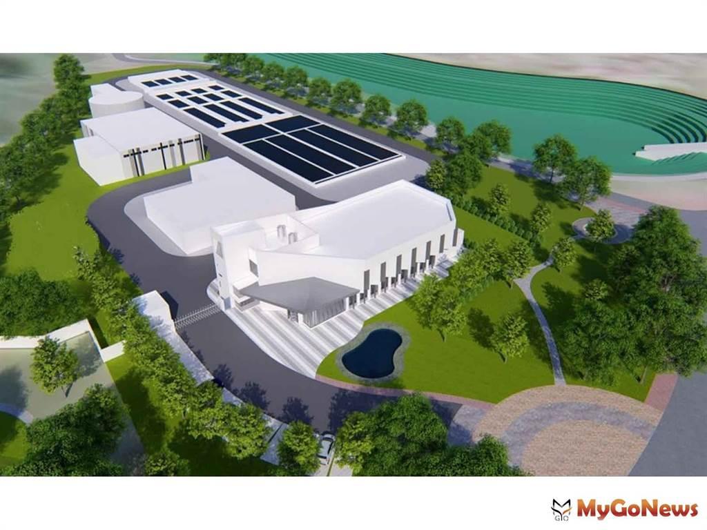 楊梅四維社福館預計2022年4月完工,以家的概念打造全齡化社福空間(圖/桃園市政府)