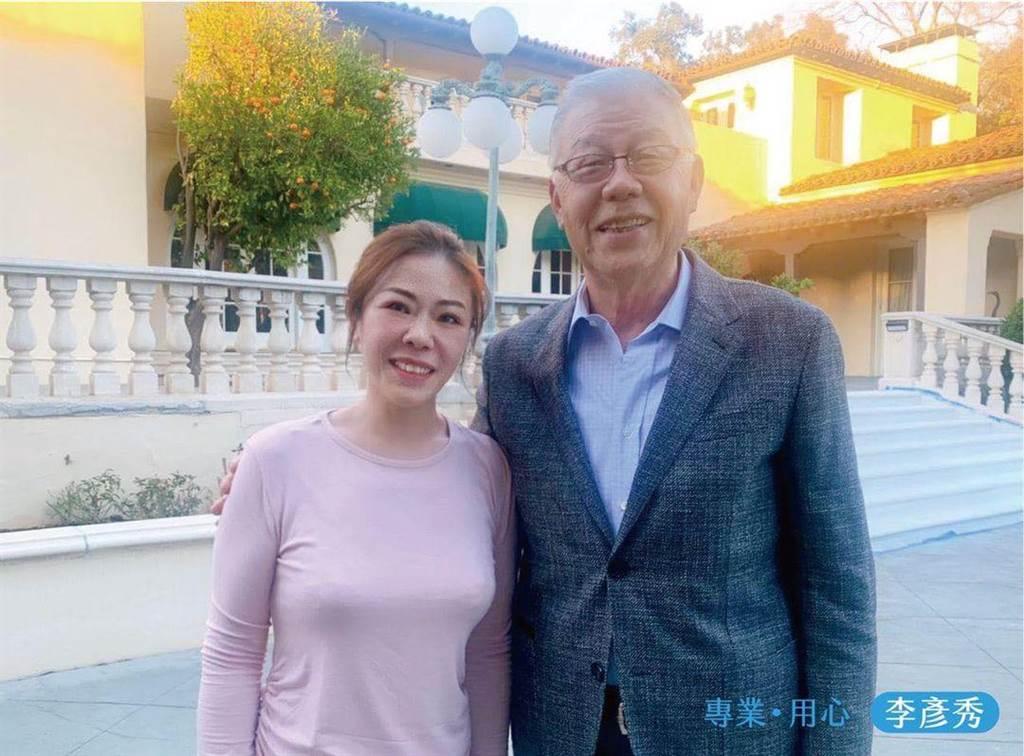 國民黨副祕書長李彥秀今天下午和前總統府資政、前駐美代表袁健生會面。(摘自李彥秀臉書)