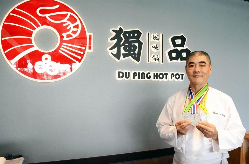 鄭堯仁自創餐飲品牌 盼以精湛廚藝擄獲饕客的胃。(林和生攝)