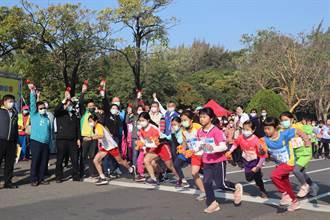 南市首屆馬拉松接力班際對抗賽 千名學子億載金城開跑