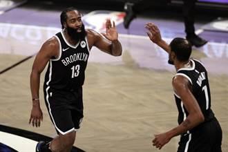 NBA》杜蘭特與哈登聯手64分 籃網逆擒公鹿奪4連勝