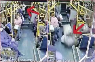 上海公車閃小黃急剎 女乘客噴飛2公尺重摔慘死 畫面驚悚