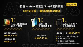 realme 2020年斬獲181個國際獎項 優惠驚喜3連發