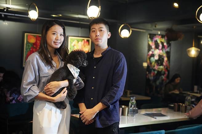 李沛洁与吴荣峰打造的BaganHood餐厅,以摩登时尚的都会质感,用蔬食呈现荤食的口味与感觉。(图/林格立提供)