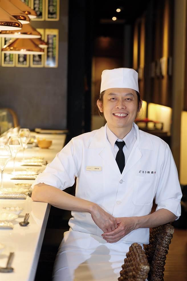 义郎餐饮执行长胡财宾从日本料理的原点出发,研发蔬食菜单。(图/林格立提供)