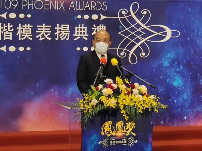 行政院長蘇貞昌今(19日)表示,國際疫情險峻,國內陸續發生幾起本土病例,對此更為戒慎恐懼,如何在嚴峻的疫情下做到防疫第一。(葉書宏攝)