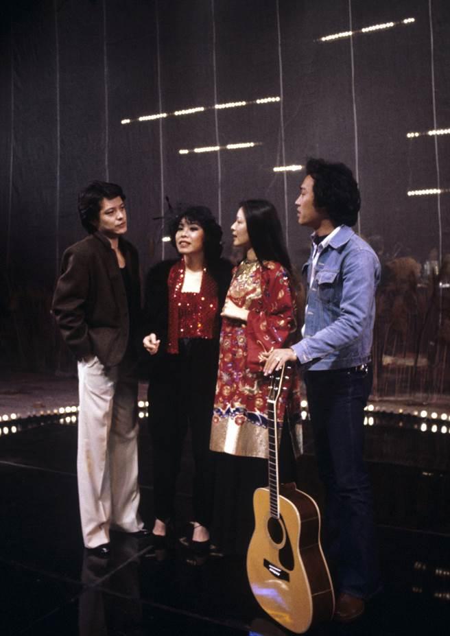 在國父紀念館演唱的劉文正(左起)、蘇麗文、胡茵夢、趙樹海。(圖/中時資料照)