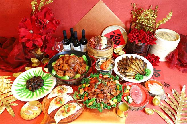 台中林酒店旗下森林百匯餐廳至2月底前,推出多道「牛轉乾坤開鴻運」料理。(台中林酒店提供)