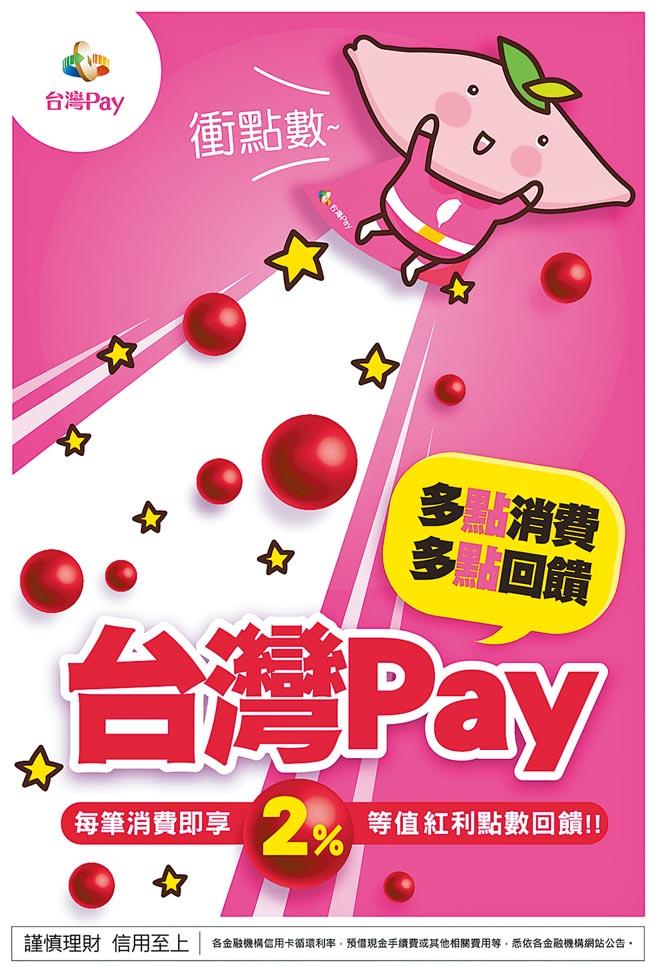 八大行庫建立台灣Pay點數經濟圈,大打現金回饋牌。圖/業者提供