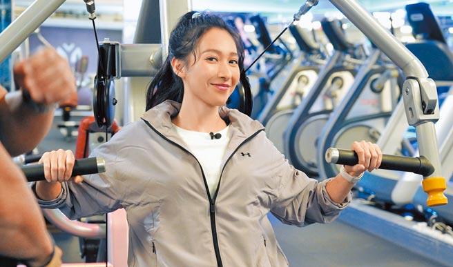 楊晴靠健身維持好身材。(TVBS提供)