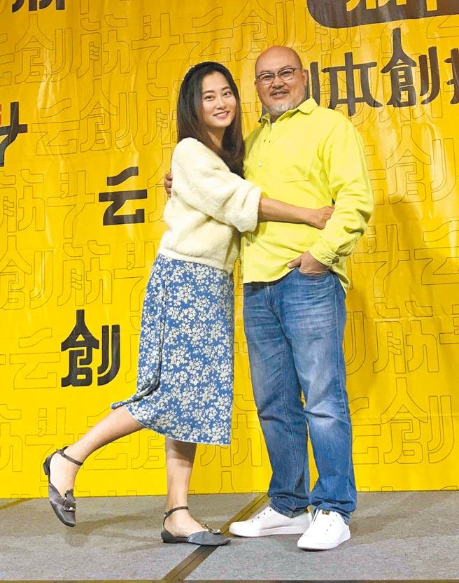 劉亮佐(右)的筋斗云創劇本創投平台孵優秀劇本有成,與老婆趙小僑做人計畫卻完全沒進度。(林淑娟攝)