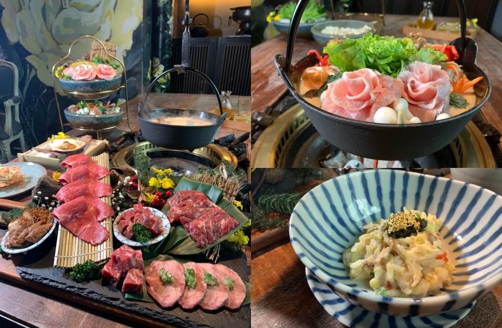 火鍋湯底選用的是貢布胡椒雞湯鍋,濃稠的豚骨白湯搭配滋補養生的豬肚與滑嫩雞腿肉熬煮,喝起來溫和不嗆辣。(圖/楊婕安攝)