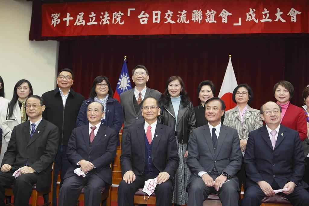 立法院「台日交流聯誼會」今天舉辦成立大會。(張鎧乙攝)