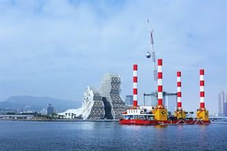 海上的崭新风景 跨年活动大彩蛋:宏禹一号