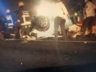 國1北上豐原段3車追撞 2人受傷