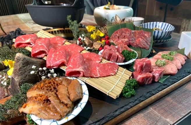 牛肉选用的是榖饲700天的奥汀牛,也有带有浓郁牛肉鲜味的美国安格斯黑牛翼板、牛小排。(图/杨婕安摄)
