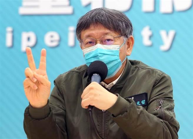 針對部立桃園醫院發生新冠肺炎院內傳染,台北市長柯文哲表示,未來兩天是關鍵期,市府會持續觀察。(范揚光攝)