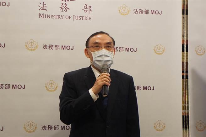 法務部長蔡清祥認為茂鍾案的調查報告,法務部已經盡最大努力。(張孝義攝)
