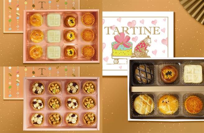以超邪惡流芯走紅「Tartine唐緹」,今年特別將招牌的手工餅乾、酥鬆的夾心餅乾,以及口味多元的特色流芯組合成多款新春禮盒。(圖/品牌提供)
