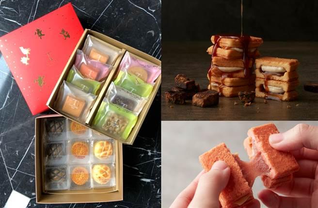 綜合餅乾流芯組一次就能品嚐到3種特色甜品,外盒採用應景的紅、金簡約配色,穩重中不失時尚感,是春節人氣必搶款。(圖/楊婕安攝、品牌提供)