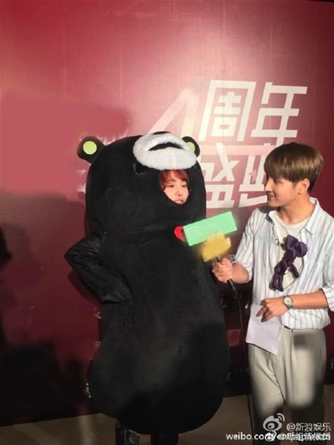郑爽2015年熊本熊事件又被翻出。(取自微博)