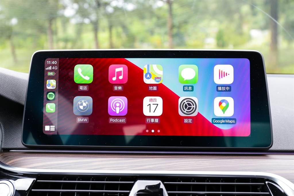 BMW早已導入無線Apple CarPlay,這回則是連同Android Auto也能使用,並且使用手機內建地圖導航時可顯示於駕駛儀表及抬頭顯示器上。