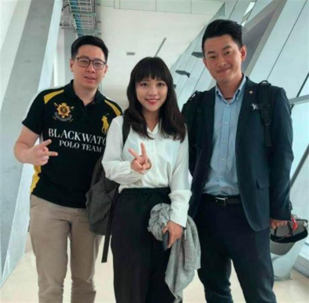 陈柏惟2019年曾PO出和黄捷、王浩宇合照。(取自陈柏惟脸书)
