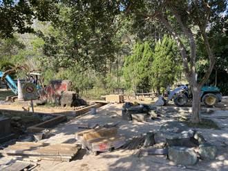 獅潭公所整頓義民廟周邊環境  河濱公園增無障礙通道