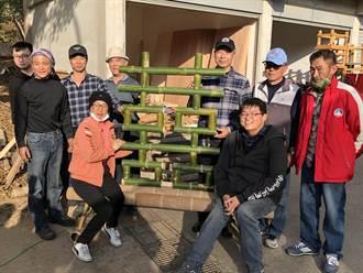 金門海漂大陸竹蚵架 在森林公園蛻變新生命