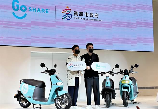 3車款700台GoShare騎進高雄 成為港都街頭新風貌。(黃慧雯攝)