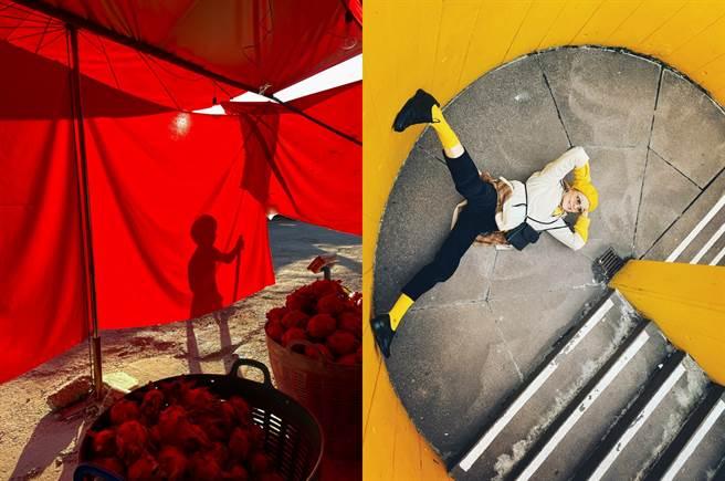 左至右以 iPhone 12 mini 拍摄(拍摄者Joe Panpiansin,泰国)、以 iPhone 12 Pro 拍摄(拍摄者Sarah M. Lee,英国)。(摘自苹果官网)