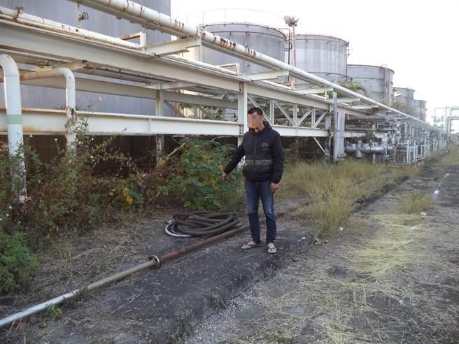 高姓嫌犯連續兩日到台南山上區一間化工廠竊取電纜。(讀者提供/劉秀芬台南傳真)