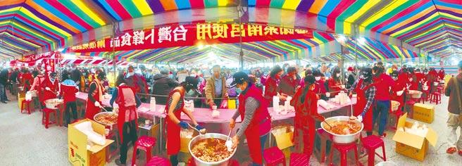 紫南宮年度盛事元宵「呷丁酒」,將改為發送冷凍雞肉調理包。(廖志晃攝)