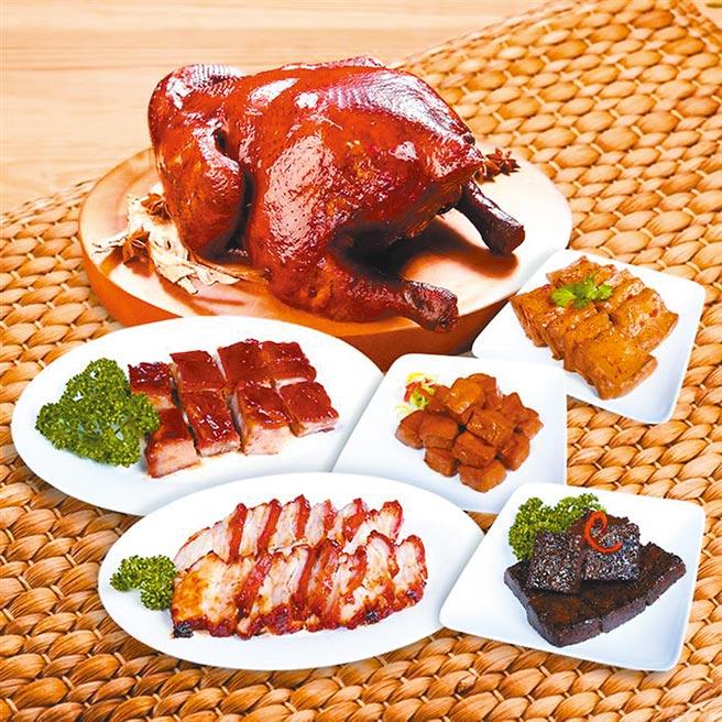 Global Mall春節線上購物推薦新加坡米其林一星了凡「冷凍燒滷味組」,原價1520元,優惠價1164元。(Global Mall提供)