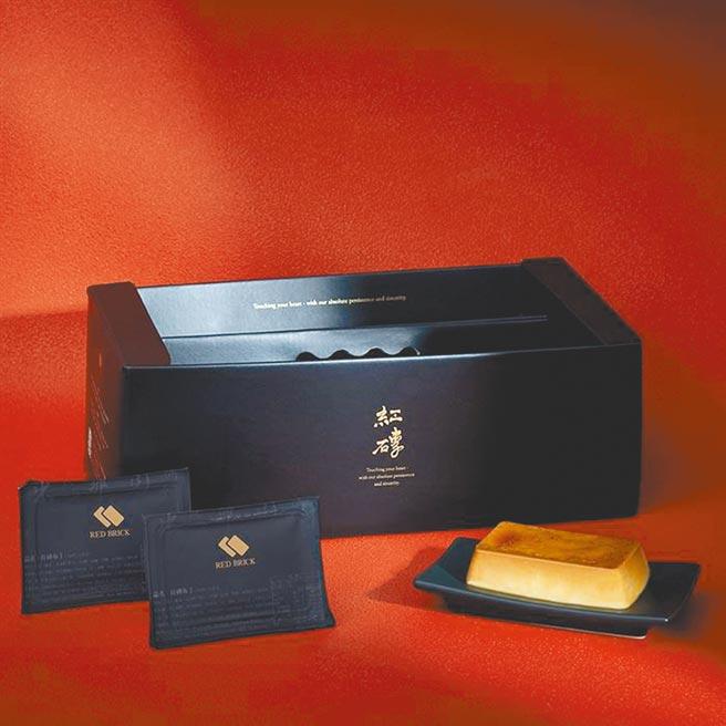 Global Mall春節線上購物推薦台南的紅磚布丁「冬季限定禮盒」12入,原價588元,優惠價560元。(Global Mall提供)
