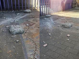 石牌國小外牆驚傳石塊崩落 學童寒假首日險無人傷亡