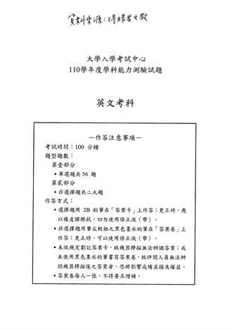 學測第一科英文考完了 完整解答看這裡