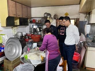 中市三型男議員手作蘿蔔糕 分送關懷據點長輩祝福好彩頭