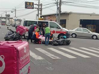 彰化美食外送员和医护人员机车撞个正着 两人轻伤送医