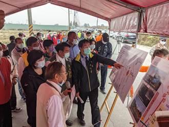 台南學甲區南53線道路拓寬 黃偉哲要求強化道路品質